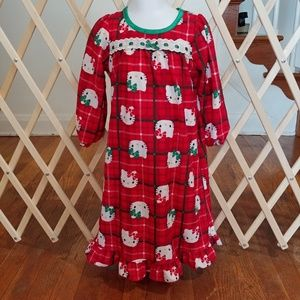 3t Girls hello kitty holiday nightgown